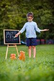 Little teacher - lesson — Stock Photo