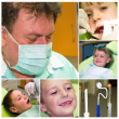 Collage of dental care — Stock Photo