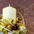 Advent candle decoration — Foto de Stock