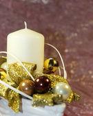 Dekorace svíčka adventní — Stock fotografie