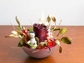 Boże narodzenie candelholder — Zdjęcie stockowe