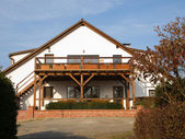 Front view on club house — Stock Photo