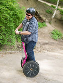 Men having fun on segway — Stock Photo