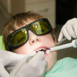 Drilling of tooth — Stock Photo