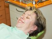 Lady on dental examination — Stock Photo