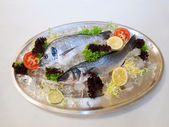 Fishes on the plate — Stock Photo