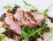Pork tenderloin with risotto — Foto Stock