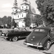 Постер, плакат: Old car parade