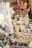 Different handcrafts on the city fair — Stock Photo