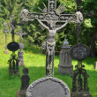 Christianity tombstones — Stock Photo