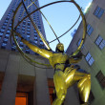 NYC Atlas statue — Stock Photo