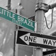 LITTLE BRAZIL street sign - Stock Photo