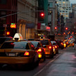 Stock Photo: Yellow taxi cabs in New York