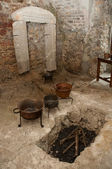 Ancient kitchen room — Stock Photo