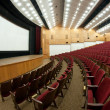 Empty cinema hall — Stock Photo
