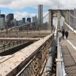 Brooklyn Bridge panorama - Stock Photo