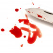 Bloody knife — Stock Photo