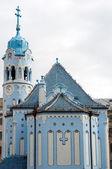 Blue church in Bratislava — Stock Photo