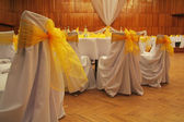 Wedding chairs decoration — Stock Photo
