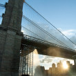 Waterfalls under Brooklyn Bridge — Stock Photo