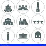 European Capitals - Icon Set (Part 5) — Stock Vector #34964713