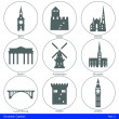 European Capitals - Icon Set (Part 2) — Stock Vector