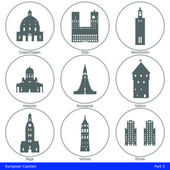 European Capitals - Icon Set (Part 3) — Stock Vector