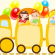 Children train — Stock Vector