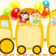 Stock Vector: Children train