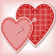 Vector de stock : Two hearts
