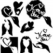 Royalty-Free Stock Vector Image: Stencils of love