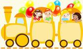 Children train — Stock Vector