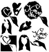 Stencils of love — Stock Vector