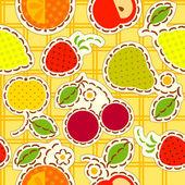 Fruits wallpaper — Stock Vector