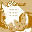 Stock Vector: Cheese