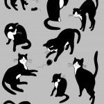 Black cats — Stock Vector #19881239