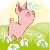 Pig — Stock Vector