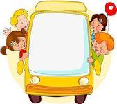 学校のバス. — ストックベクタ