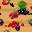 Wallpaper with berry — Stock Vector
