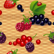 Wallpaper with berry — Stock Vector #22281031