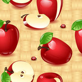 Apples Wallpaper — Stock Vector