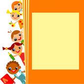 School children's background — Stock Vector