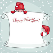 Banner happy new year — Stock Vector