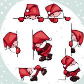 Set Santa Claus — Stock Vector