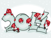 Banner new 2014 year — Stock Vector