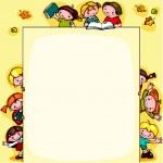 Kids school background — Stock Vector #32538035