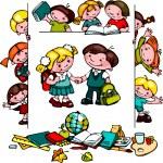 Kids school set — Stock Vector #32538055