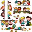 Kids school set — Stock Vector #32538073