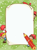 Christmas blank — Stock Vector