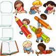 Kids school set — Stock Vector #51063071